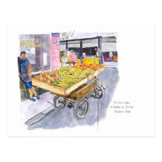 Fruit Seller in Old Havana, Cuba Postcard