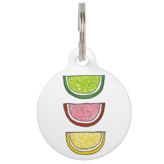 Fruit Slice Candy Gummy Jelly Candies Lime Lemon Pet Tag