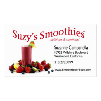 Fruit Smoothies Nutritionist Food Coach Business Card