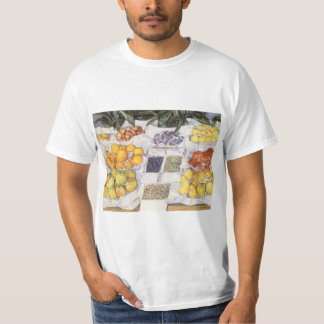 Fruit Stand by Gustave Caillebotte, Vintage Art T-Shirt