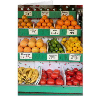Fruit Stand, Columbus Avenue, New York City, NYC Card