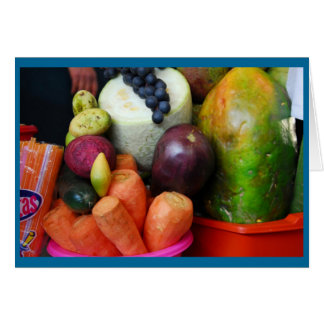 Fruit Stand in Cusco Market Card