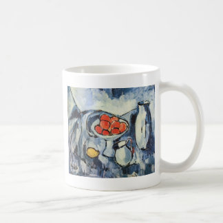 Fruit Still Life in Blue Vlamink Classic White Coffee Mug