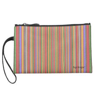 Fruit-Stripes(c) Fabric Design_-Sueded Mini Clutch