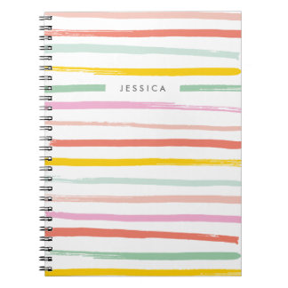 Fruit Stripes Journal - Watermelon Spiral Note Books