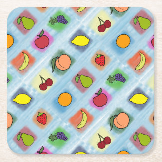Fruit Surprise Square Paper Coaster