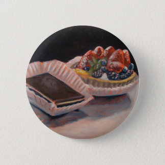 Fruit tart fudge painting on fun items! 2 inch round button