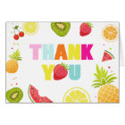 Fruit Thank you card Two-tti frutti Tutti Fruity
