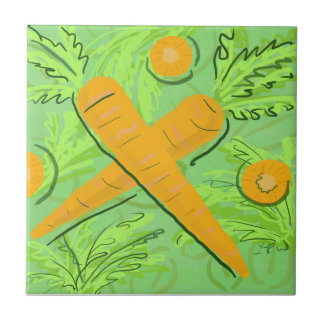 Fruit Tile: Carrots Tile