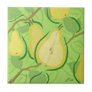 Fruit Tile: Pear Ceramic Tile