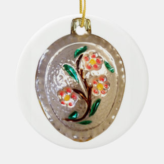 Fruit Tree Blossoms Ceramic Ornament