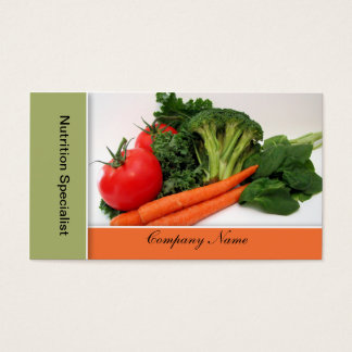 Fruit - Vegetable  Business Cards - Border