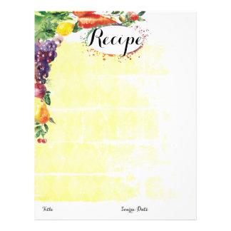 Fruit vegetable mixed food recipe letterhead