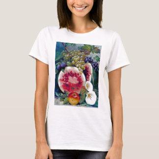 Fruit Watermelon Grape Apple Still life T-Shirt
