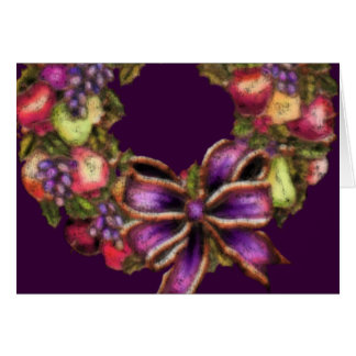 Fruit Wreath Holiday Greeting Card