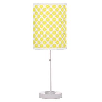 Fruit Yellow Lemon Pattern Table Lamp