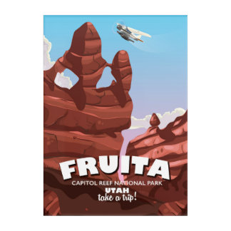 Fruita Capitol Reef National Park Utah Acrylic Wall Art