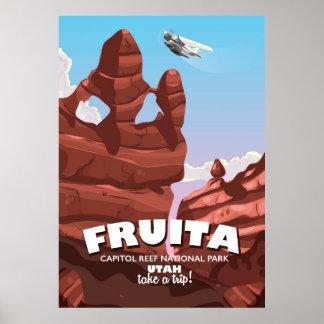 Fruita Capitol Reef National Park Utah Poster