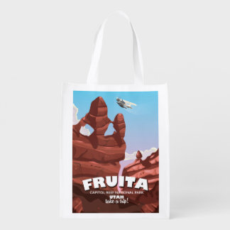Fruita Capitol Reef National Park Utah Reusable Grocery Bag