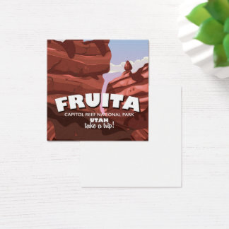 Fruita Capitol Reef National Park Utah Square Business Card