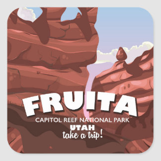 Fruita Capitol Reef National Park Utah Square Sticker