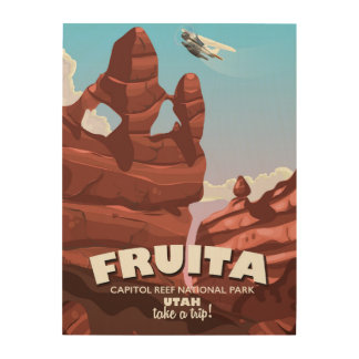 Fruita Capitol Reef National Park Utah Wood Wall Art