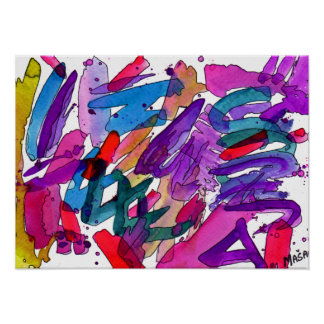 Fruital Doodle Do Abstract Art Poster