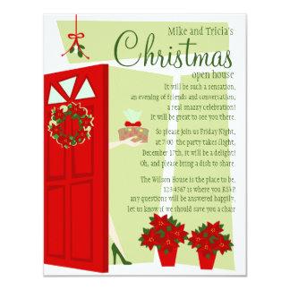 "Fruitcake at the Door 4.25"" X 5.5"" Invitation Card"