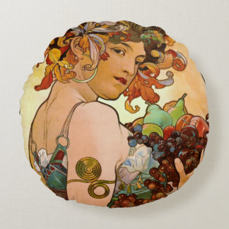 Fruitful 1897 round pillow