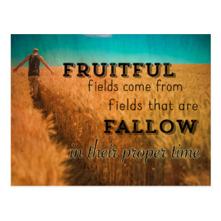 Fruitful Field Proverb Postcard