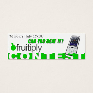 Fruitiply Contest Mini Business Card