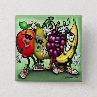 Fruits 2 Inch Square Button