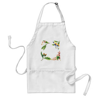 Fruits and Flowers Watercolor Art Apron