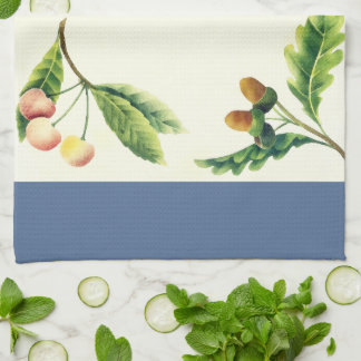 Fruits and Flowers Watercolor Art Kitchen Towel