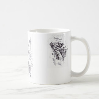 fruits and grapes coffee mug