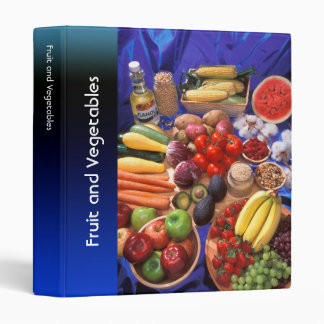 Fruits and vegetables 3 ring binders