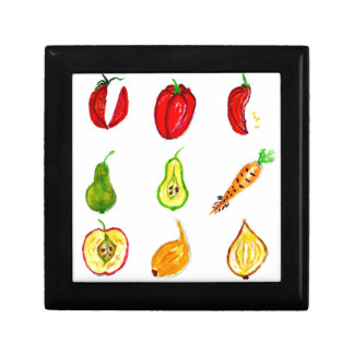 Fruits and Vegetables Art Jewelry Box