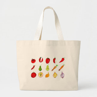 Fruits and Vegetables Art Large Tote Bag