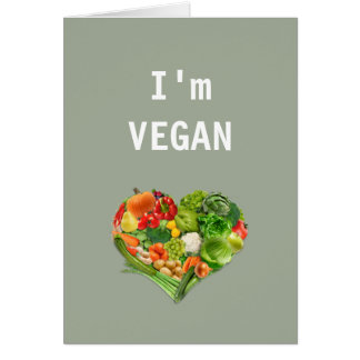 Fruits and Vegetables Heart - Vegan Card