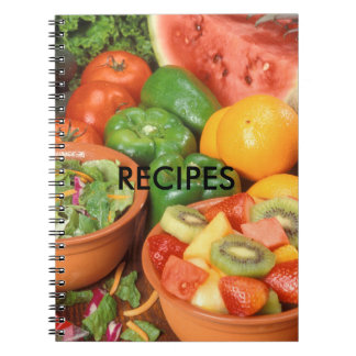 Fruits and Vegetables Recipes Spiral Notebook