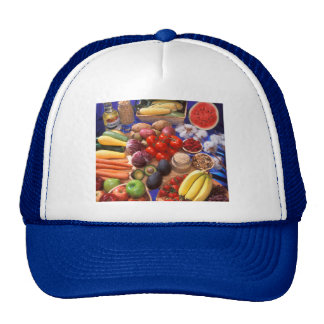Fruits and vegetables trucker hat