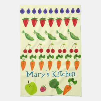 Fruits and Veggies Personalized Kitchen Towel