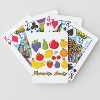 Fruits Bicycle Playing Cards