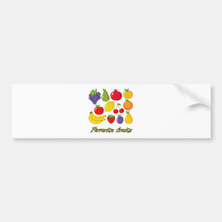 Fruits Bumper Sticker