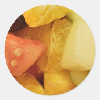 Fruits Classic Round Sticker