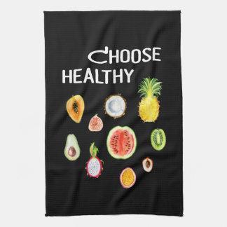 Fruits Food: Choose Healthy Vegan, Vegetarian Kitchen Towel