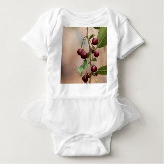 Fruits of a shiny leaf buckthorn baby bodysuit
