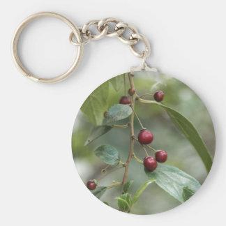 Fruits of a shiny leaf buckthorn keychain