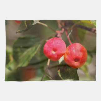 Fruits of a wild apple tree kitchen towel