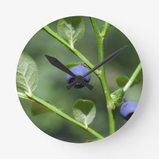 Fruits of the European blueberry Round Clock